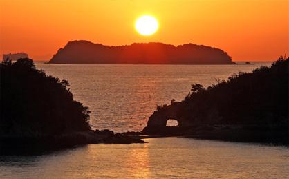 はなぐり岩(夕日岬)